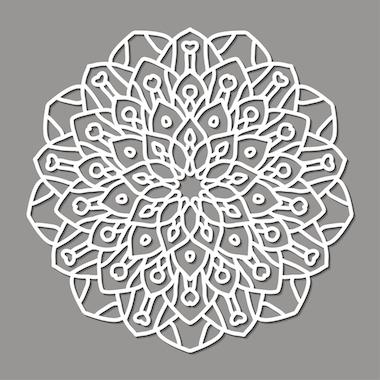 Mandalas tibetanos color blanco