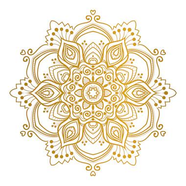 Mandalas tibetanos color dorado