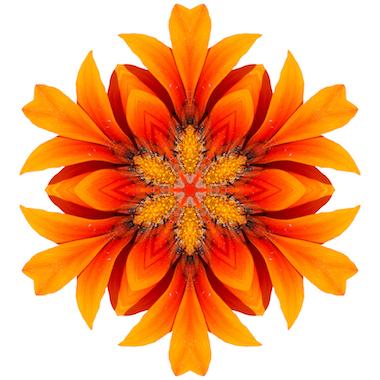 Mandalas tibetanos color naranja.