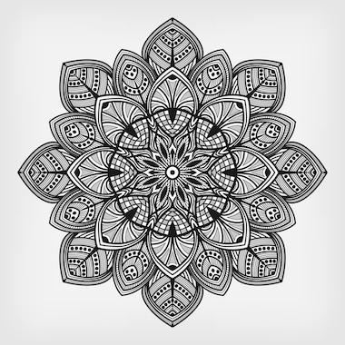 Mandalas tibetanos color negro