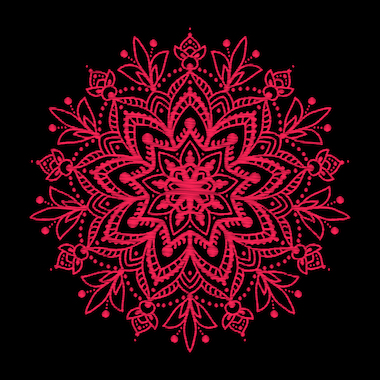 Mandalas tibetanos color rojo