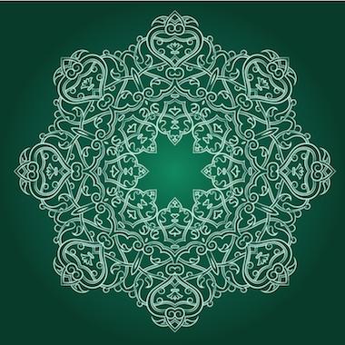 Mandalas tibetanos color verde