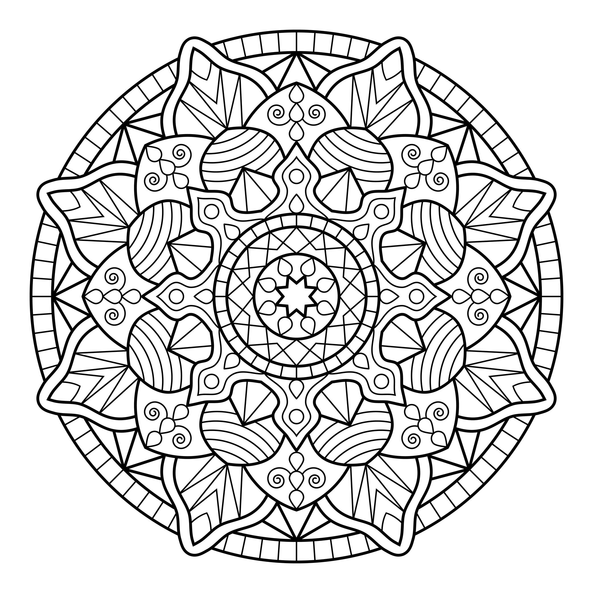 Pintar mandalas juan pel ez g mez for Mandalas ninos