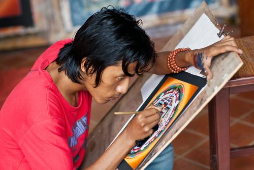 colorear mandalas tibetanos