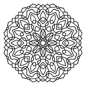 mandala tibetano para colorear