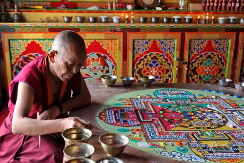 mandalas tibetanos de arena