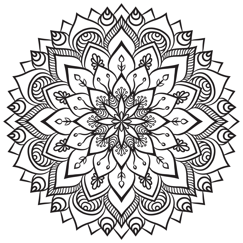 Mandalas Ethniques Coloring Pages