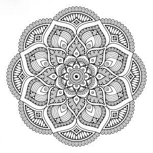 Mandalas tibetano pintar