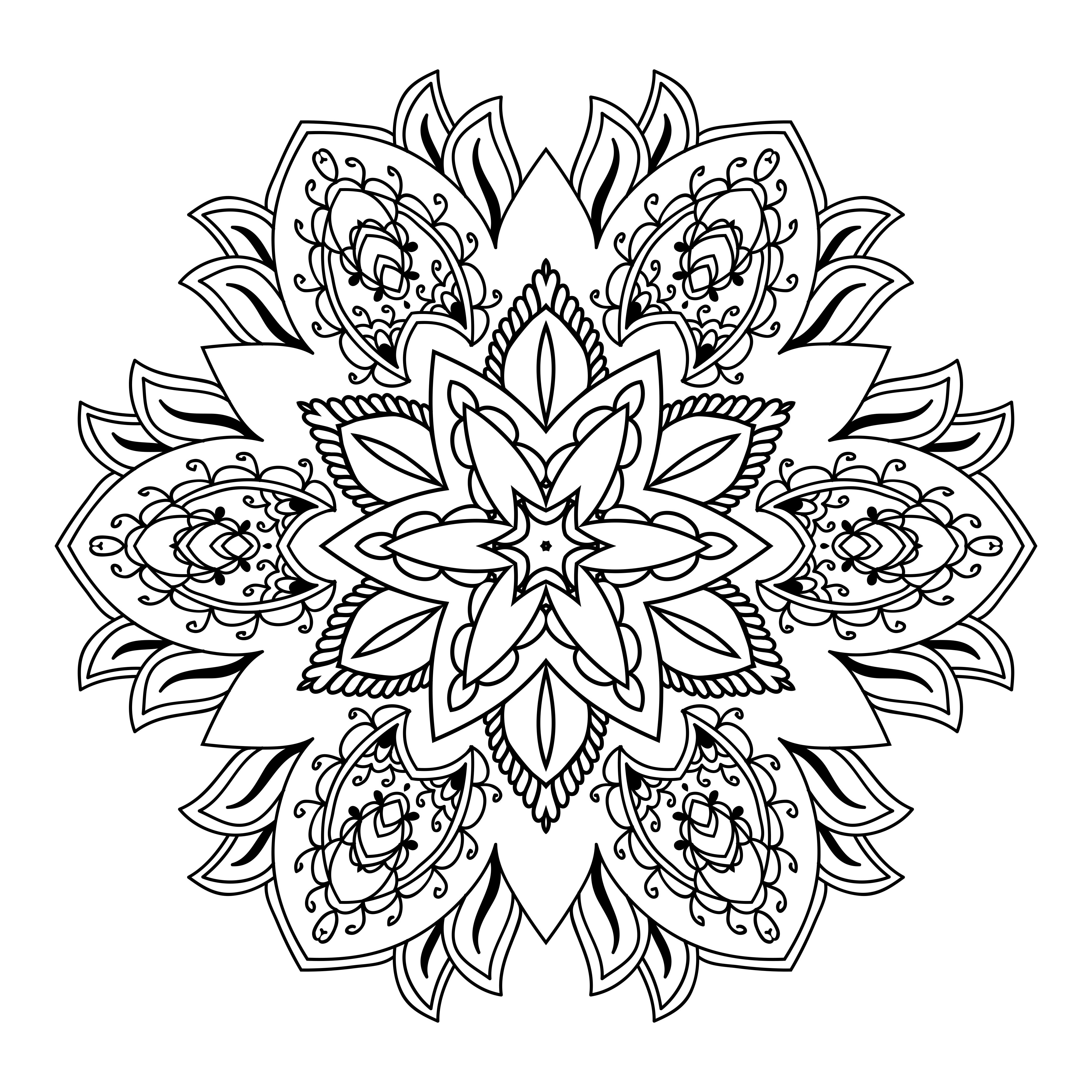▷ Los mejores diseños de mandalas de flores   DEBUDA.NET