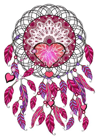 Mandala atrapasueños para pintar