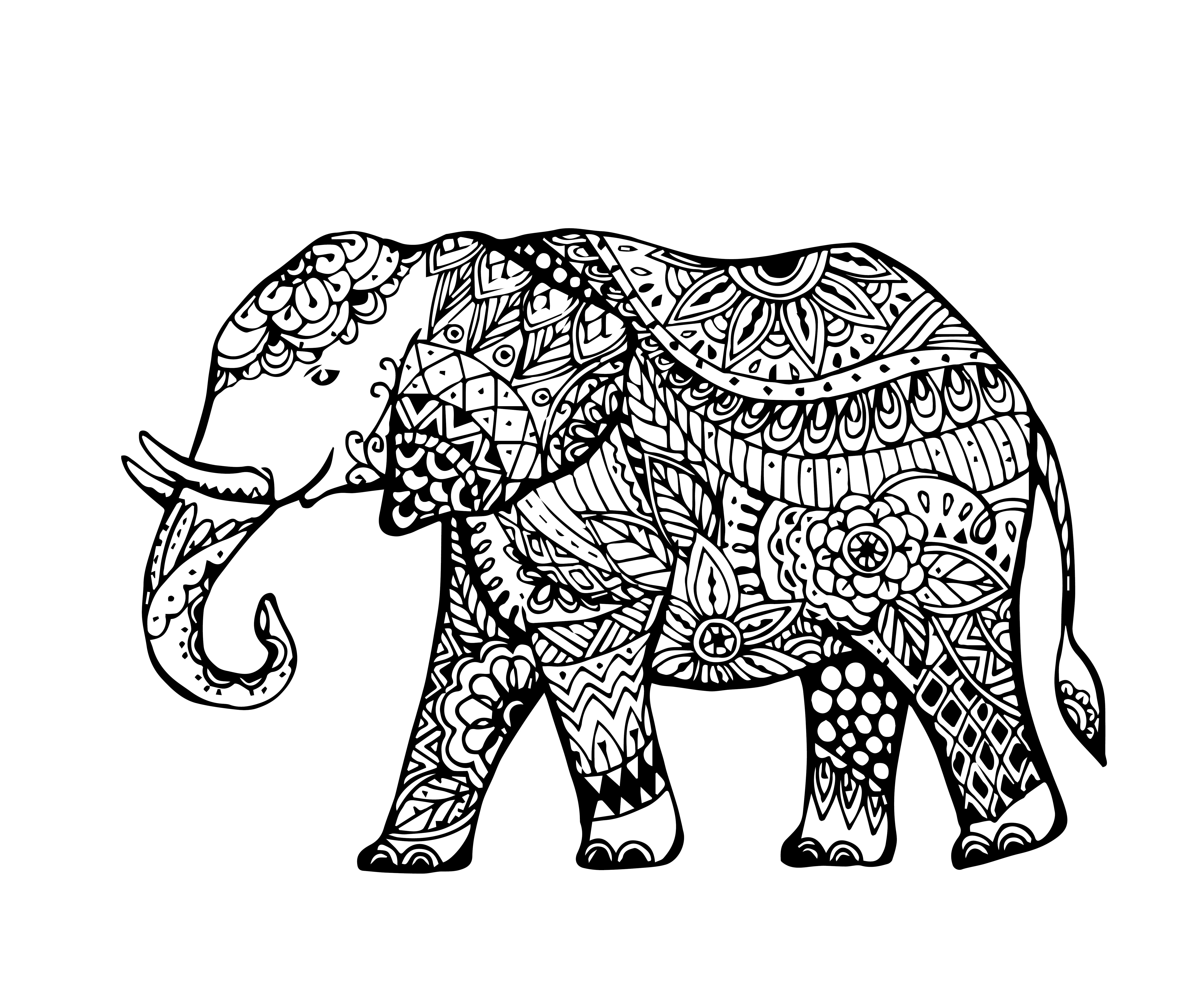Dibujo Elefante Para Colorear E Imprimir: Los Mejores Mandalas De Elefantes