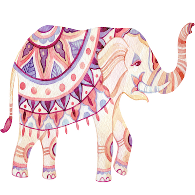 Mandalas de elefantes para colorear