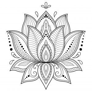 Mandalas de flores de loto