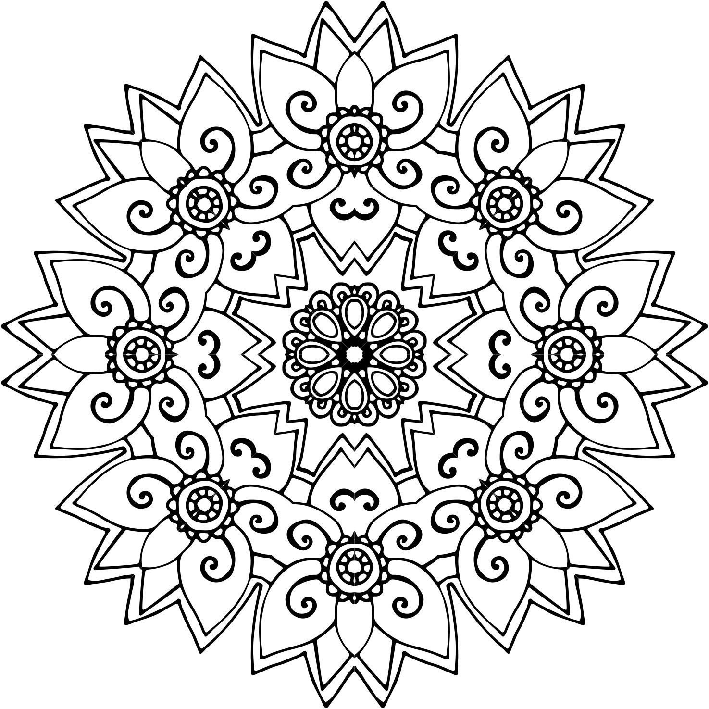 ▷ Los mejores diseños de mandalas de flores | DEBUDA.NET