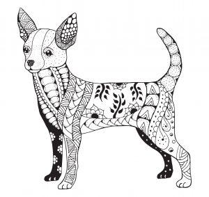 Mandalas de perros dificiles