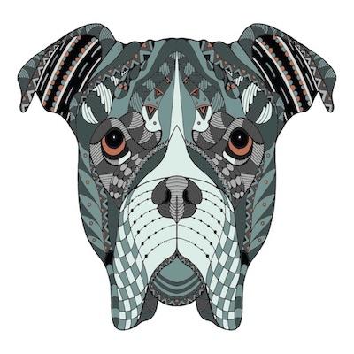Mandalas de perros para imprimir
