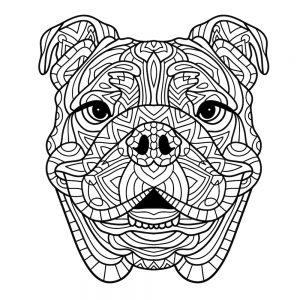 Mandalas de perros para pintar