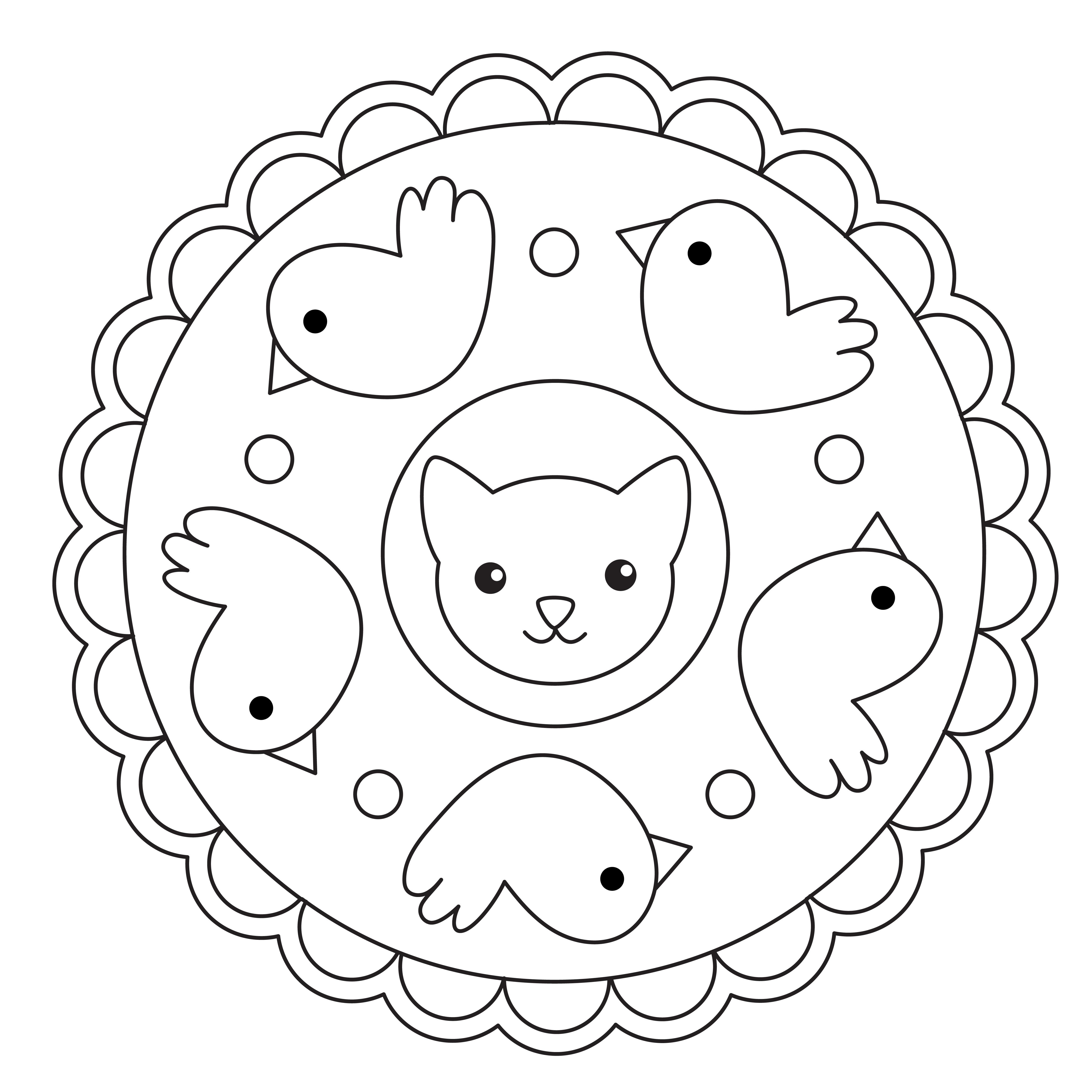 ▷ Mandalas infantiles para colorear | DEBUDA.NET