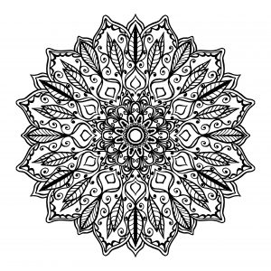 Pintar Mandalas de flores