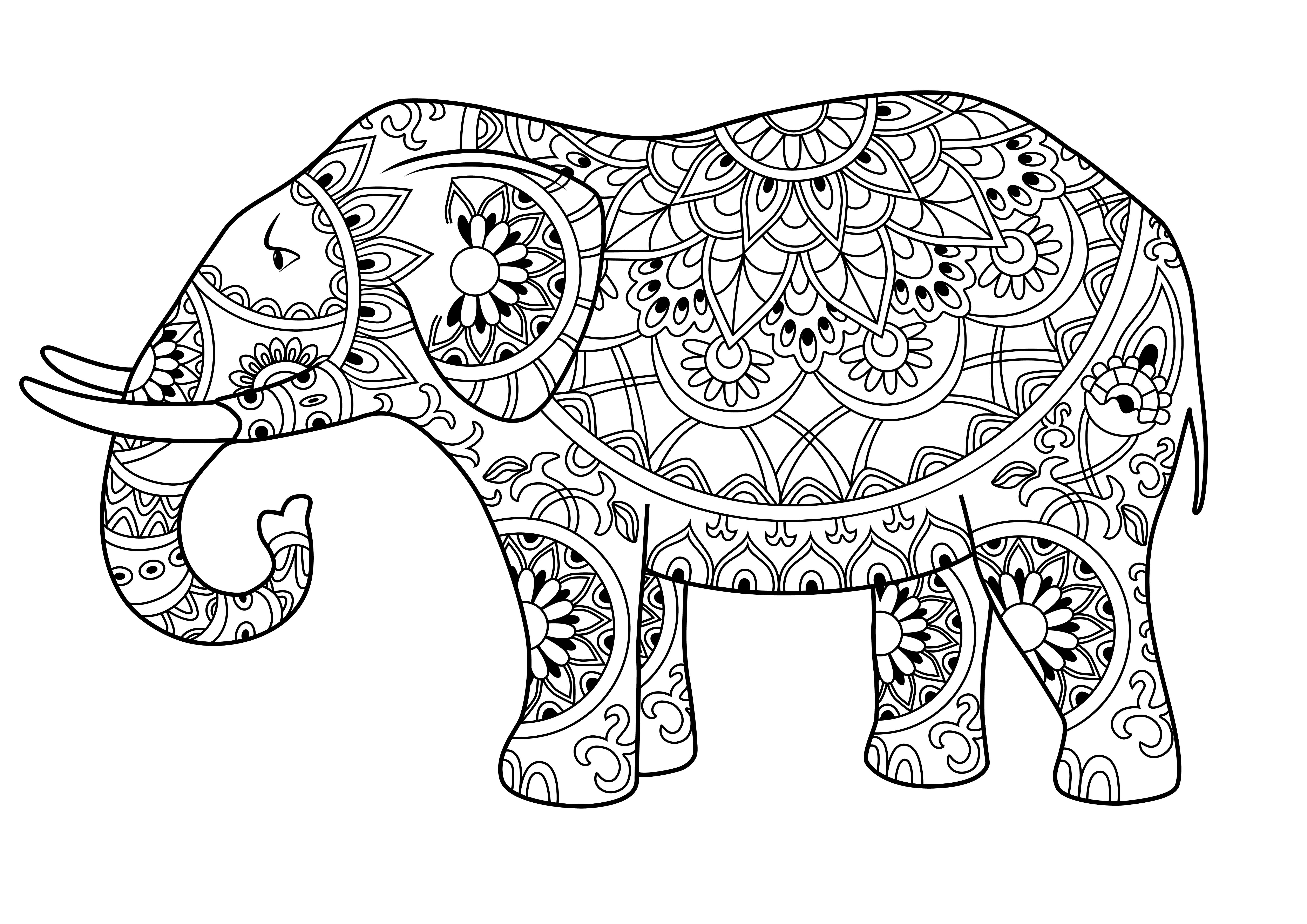 Mandala Para Colorear Animales: Los Mejores Mandalas De Elefantes