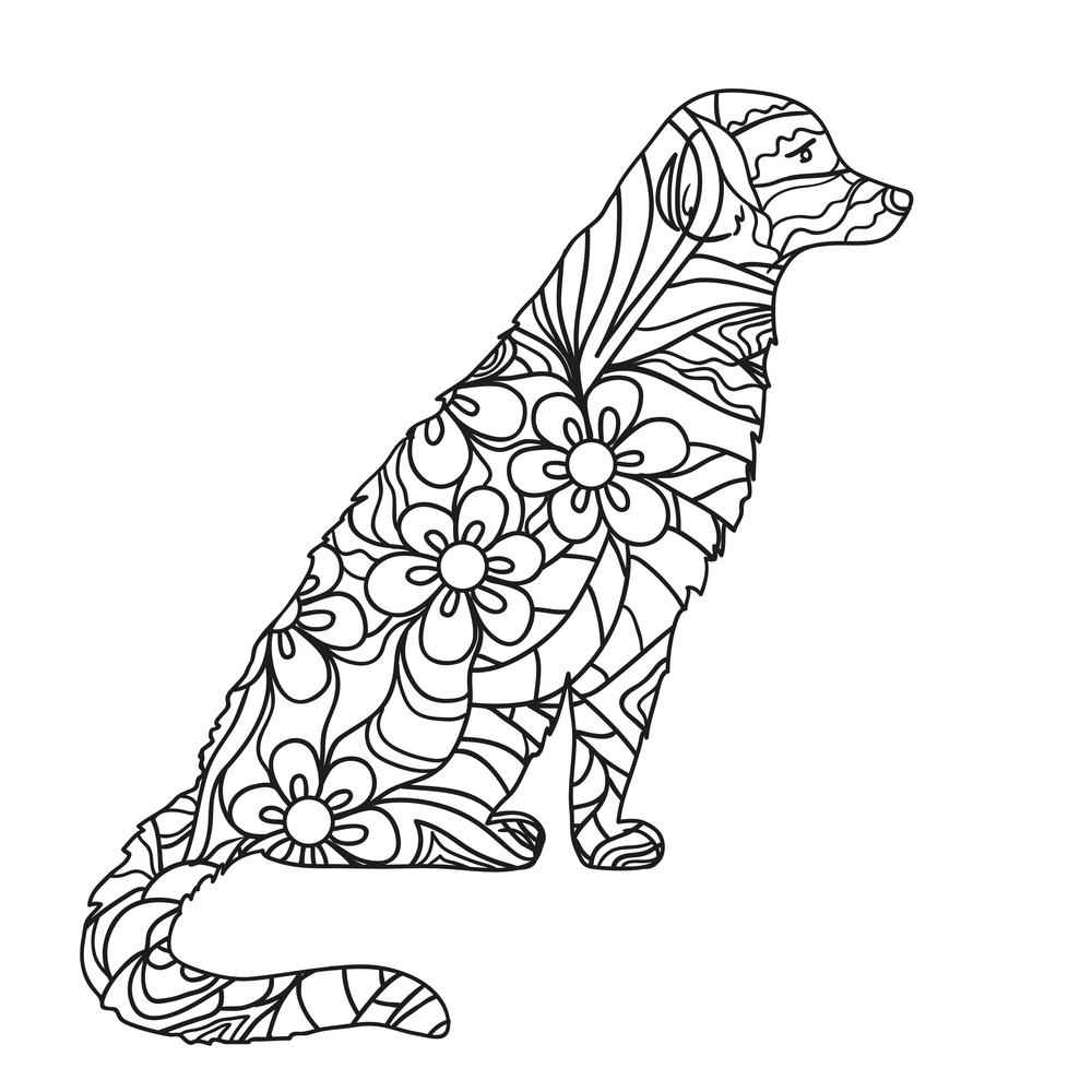 Mandalas De Perros Para Colorear Debuda Net