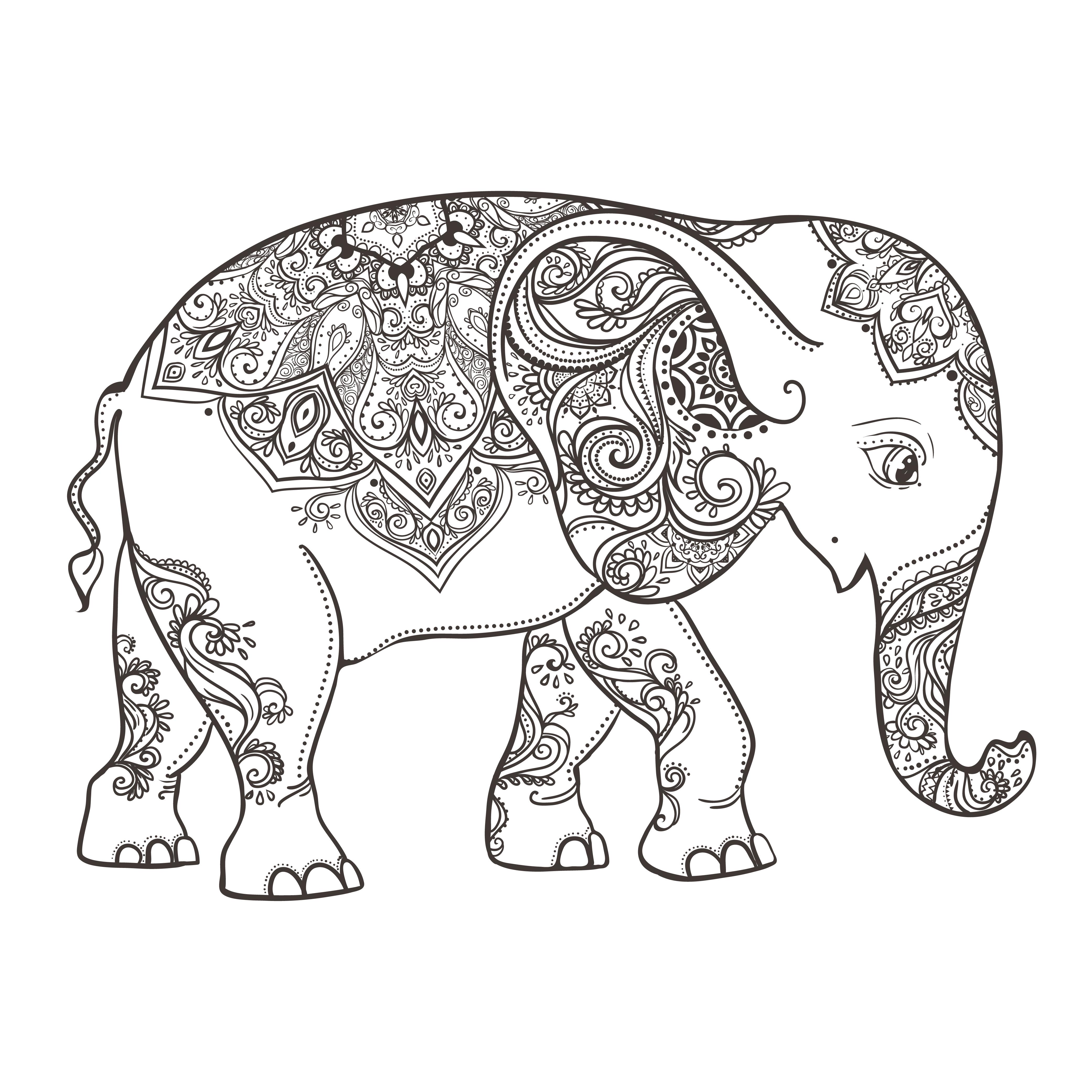 Fantástico Colorear Elefante Africano Fotos - Dibujos Para Colorear ...