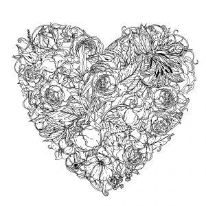 colorear mandalas de corazones
