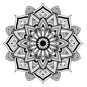 dibujos de mandalas de flores