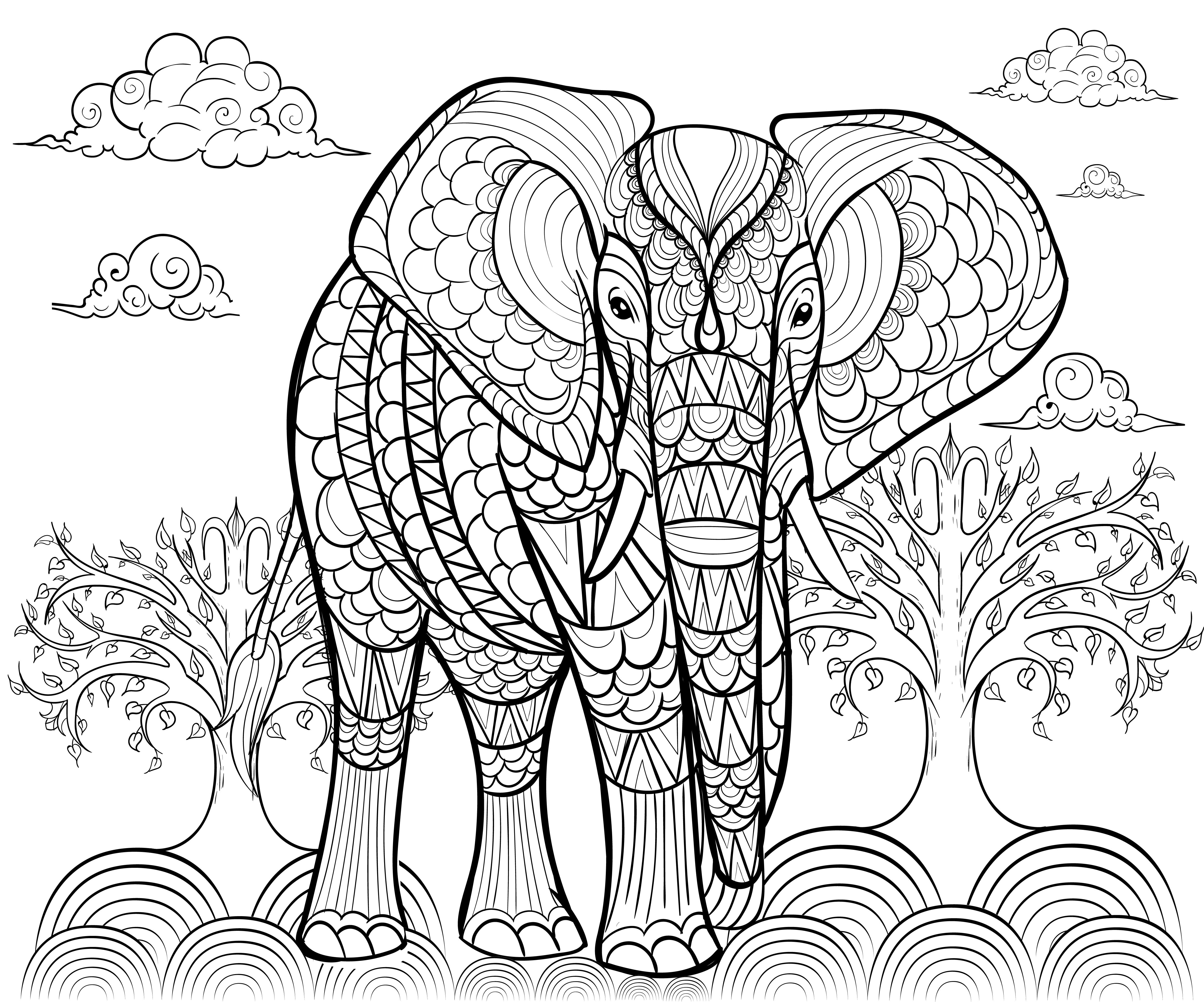 Los mejores mandalas de elefantes debuda net for Mandala da colorare con animali
