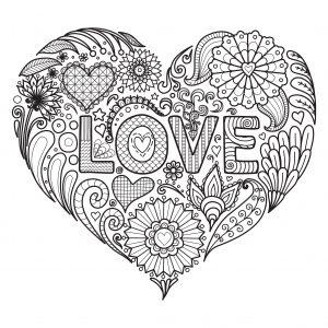 mandala de amor para imprimir