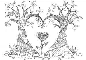 mandala de corazon
