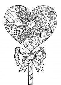 mandalas de corazones para pintar
