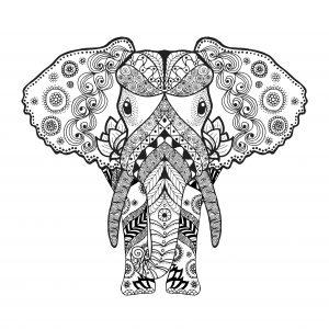 mandalas de elefantes para pintar