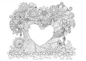 mandalas para colorear de amor