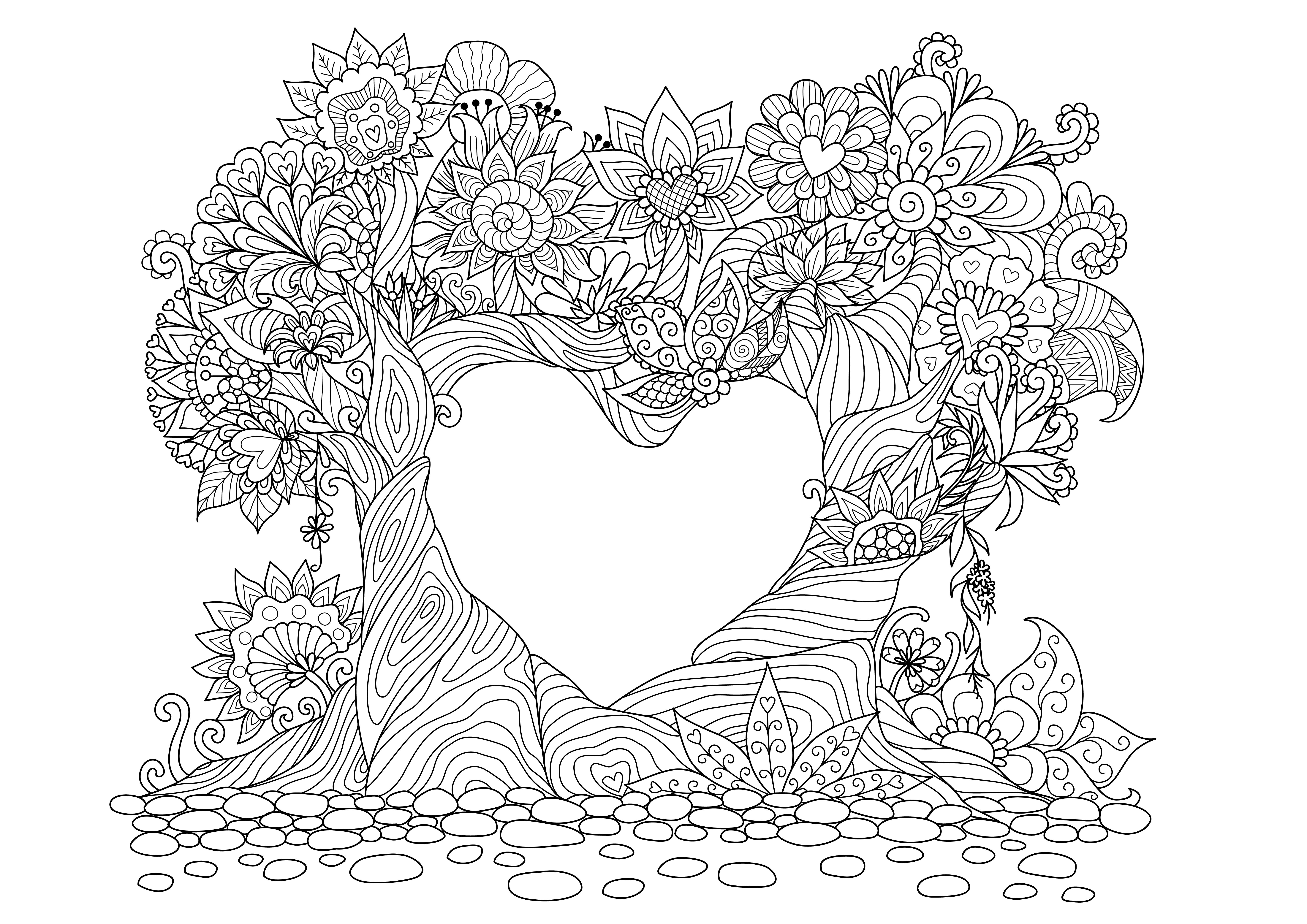 ▷ Mandalas de amor para pintar y regalar | DEBUDA.NET
