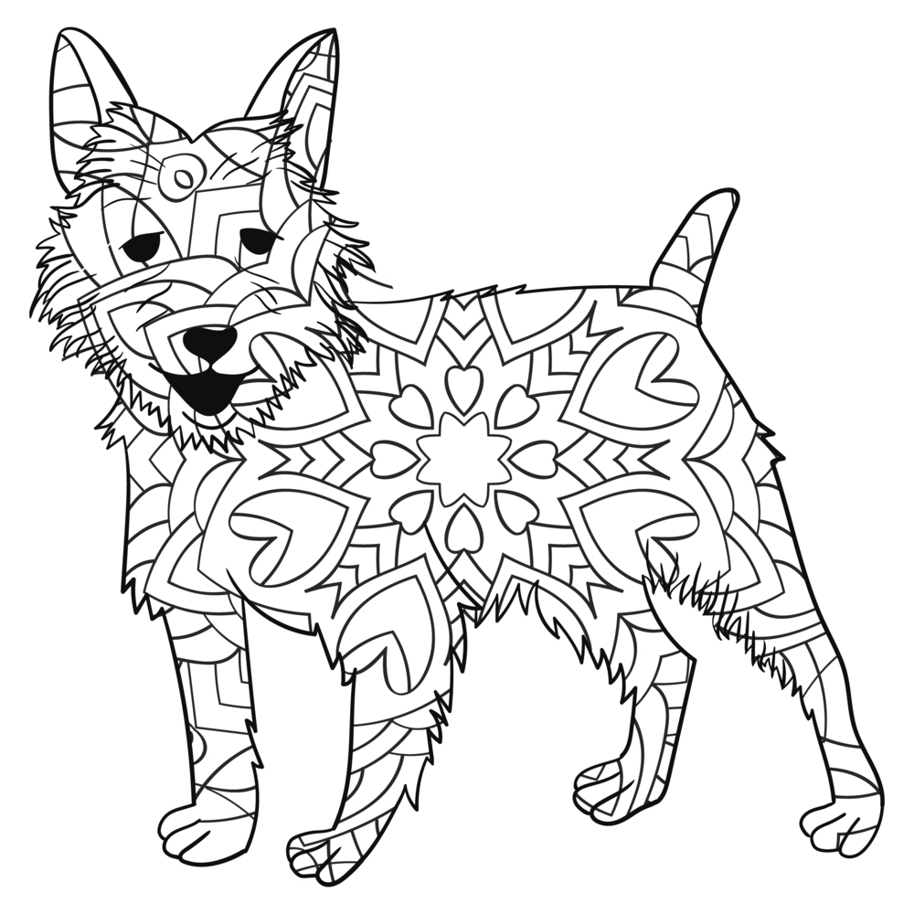 Mandalas De Perros Para Colorear