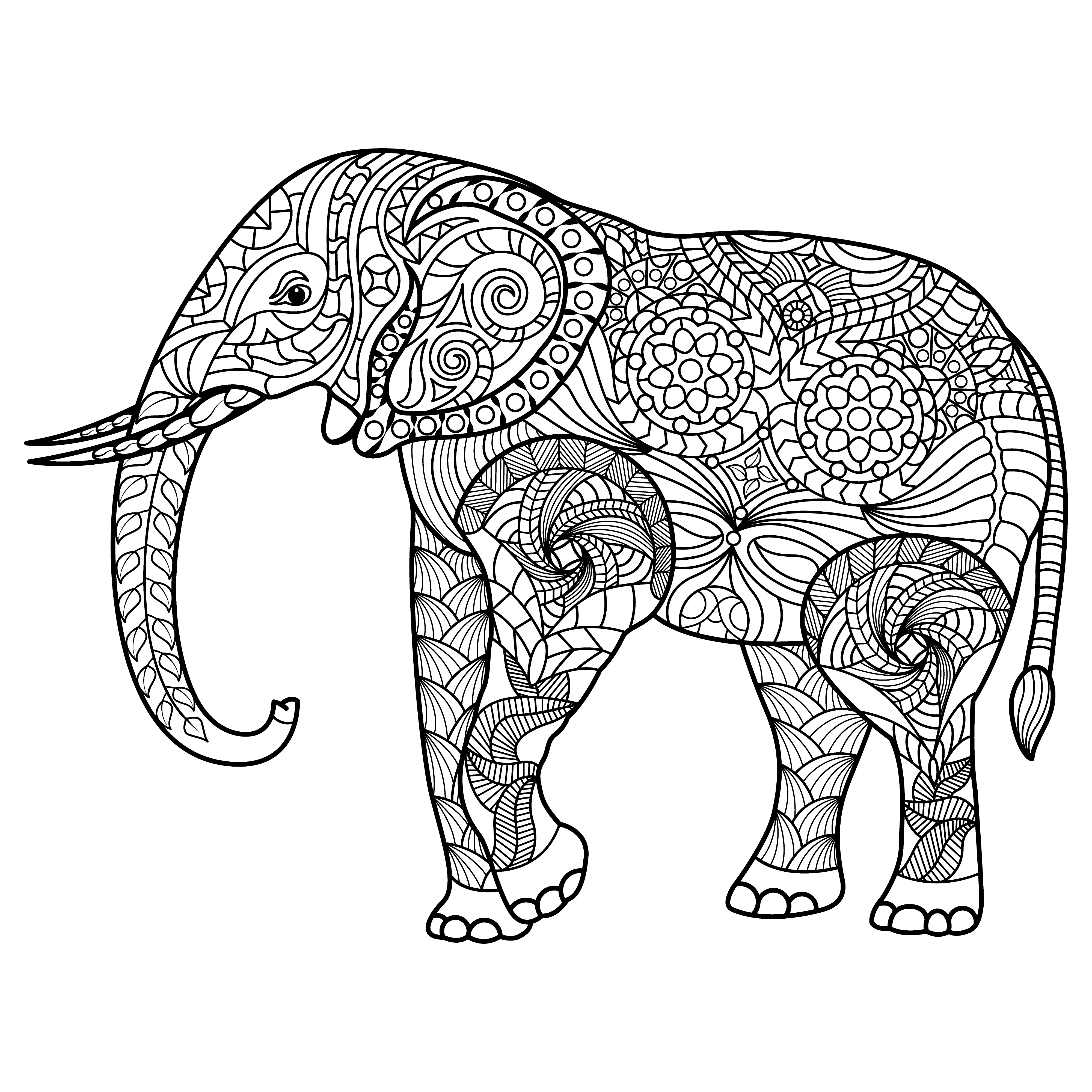 ︎ Los Mejores Mandalas De Elefantes Debuda Net
