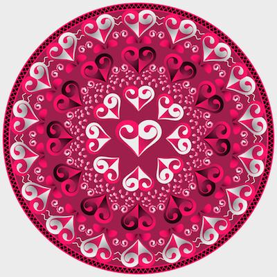 pintar un mandala de amor