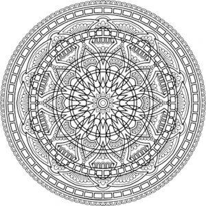 Mandalas geométricos para imprimir y colorear