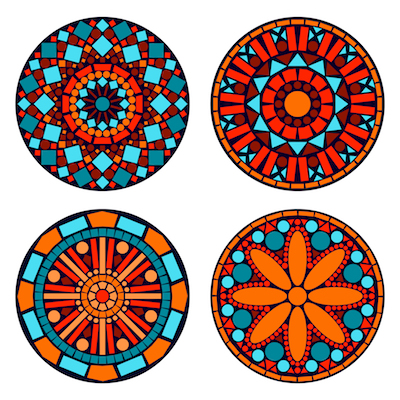 Mandalas geométricos para imprimir