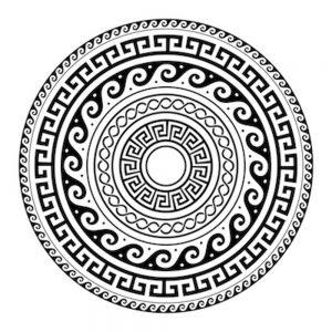 Mandalas geométricos para niños