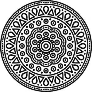 Mandalas geométricos para pintar