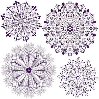 dibujos de Mandalas geométricos