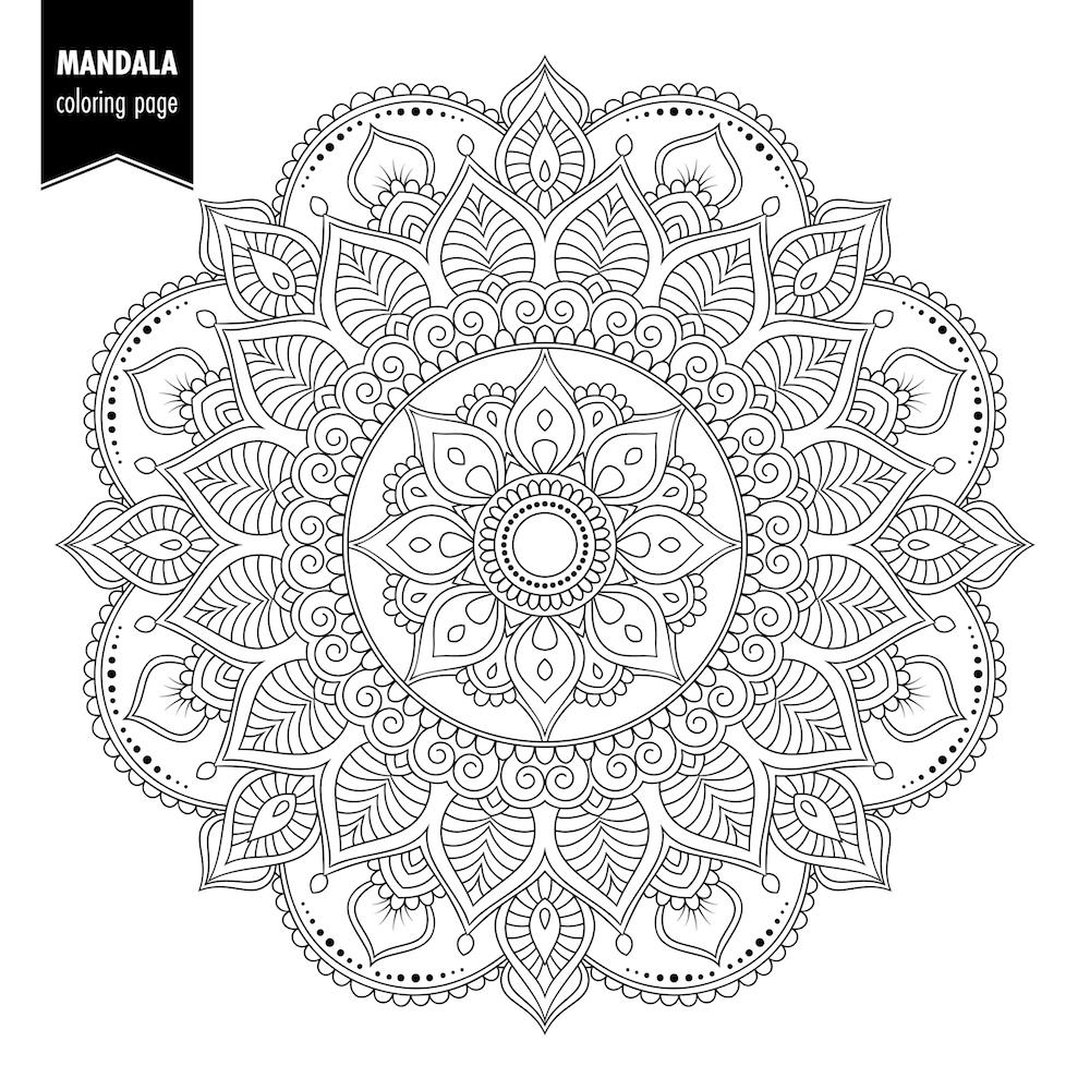 ▷ Mandalas para colorear | DEBUDA.NET
