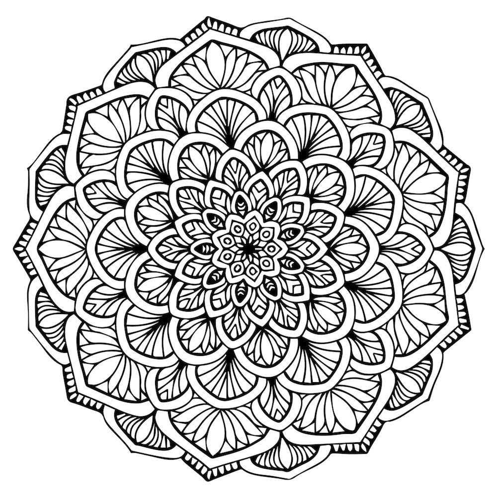 ▷ Mandalas para colorear y relajarte | DEBUDA.NET